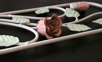 Ideas para una cama con dosel hierro romántico diseño