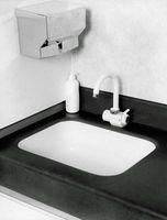 Ajuste Color Ideas para un negro y blanco baño