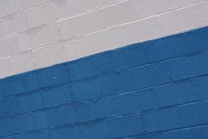 Pintura sobre un bloque de hormigón interior