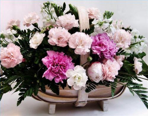Cómo utilizar claveles en arreglos florales