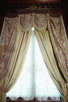 ¿Cómo se mide la longitud de las cortinas al utilizar anillos de sujeción