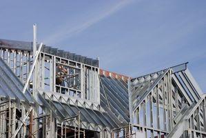 Instalación de estructura para techos de Metal