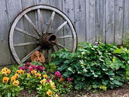 Ideas para formas de utilizar las ruedas de carro antiguo