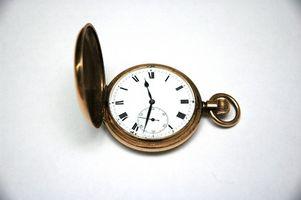 Cómo ajustar los relojes de bolsillo
