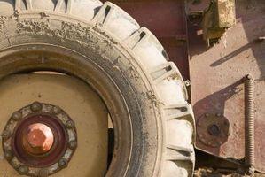 Cómo utilizar los neumáticos del Tractor antiguo