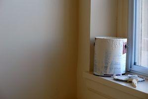 Cómo a una esquina de la cinta cuando la pintura