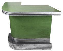 Metal ribete de madera contrachapada