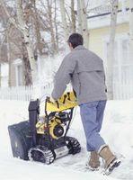 Problemas con una máquina removedora de nieve