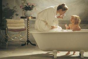 Cerámica y acrílico bañera