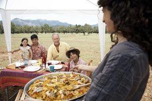 Cómo extender una mesa al aire libre