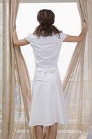 Cómo recortar la tela de la cortina