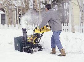 ¿Cómo cambiar la barrena en un artesano 9 caballos de fuerza Máquina removedora de nieve?