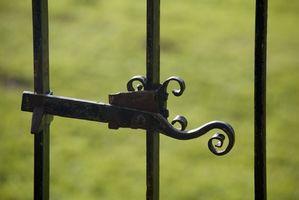 Decorativos de hierro barandilla componentes