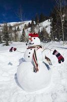 Muñeco de nieve paisaje madera manualidades