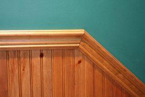Cómo instalar molduras de madera