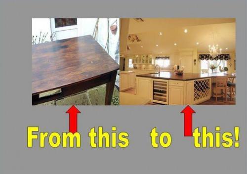 ¿Cómo convertir una mesa de comedor a una isla