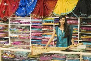 Cómo colgar un Sari en la pared