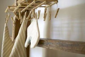 Cómo hacer un punto de suspensión para una toalla de cocina