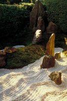 Tamaños de roca común para ajardinar
