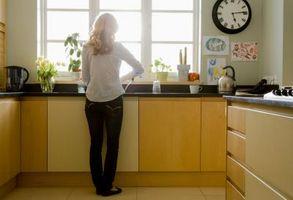 Cocina Ideas de cortina para una cenefa con persianas