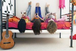 Diferentes estilos para el dormitorio de una chica adolescente