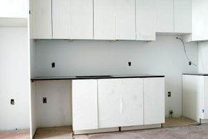 Cocina Ideas de diseño con muebles blancos