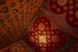 Diferentes estilos de textura de la pared