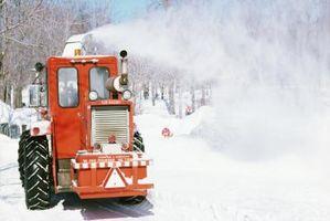 ¿Cómo reparar un neumático Máquina removedora de nieve