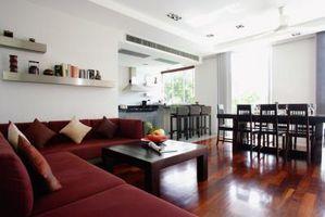 Ideas de esquema de color para una sala de estar y cocina contigua