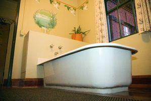 Cómo instalar una bañera en un piso de cemento