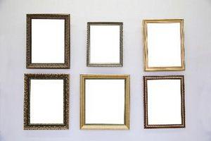 Cómo organizar marcos de cuadros en la pared