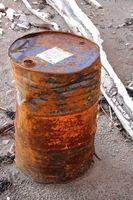 Cómo deshacerse de los envases de acero resina de poliuretano de 55 galones