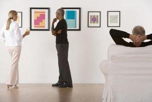 Cómo colgar tu obra de arte a la altura adecuada
