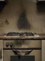 El interior de mi horno autolimpiante cogió fuego