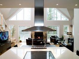 Ideas de decoración para salas de estar que comparten un espacio con una cocina