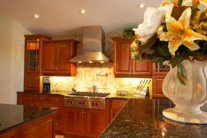 Cómo hacer teñido gabinetes de cocina de madera mirada fresca