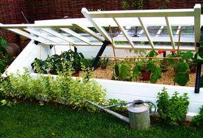 ¿Cómo hacer un pequeño marco de frío para un invernadero?