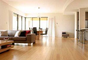 Hechos de bambú pisos