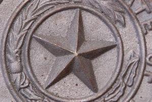 Ideas con la estrella de Texas decorar la chimenea