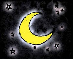 Cielo Luna bebé murales infantiles Ideas