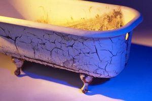 Instalación de bañera de hierro fundido