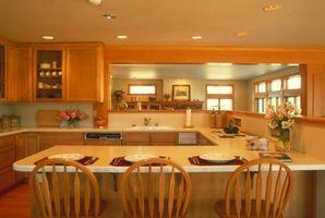 Una pared de la cocina para hacer una barra de corte