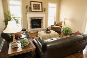 Cómo diseñar una sala de estar con muebles de cuero marrón