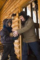 Cómo determinar el Color para pisos de madera en una casa de troncos