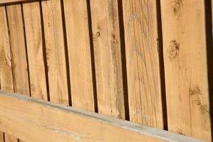 Instrucciones para instalar una valla de madera