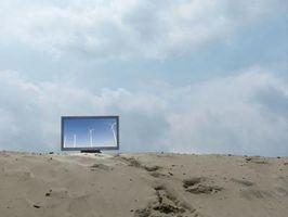 TV de Plasma en una estructura de aluminio de montaje