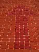 Como salida una pavimentadora de ladrillo hueco