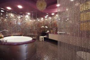 Ideas para cuarto de baño moderno: Verde y gris