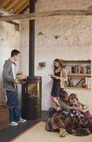 Cómo instalar una chimenea en una estufa de leña